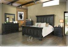 Terra Black Queen Bedroom Group: Queen Bed, Nightstand, Dresser & Mirror