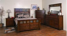 """Santa Fe Queen Bed 69"""" X 91"""" X 67""""h Product Image"""