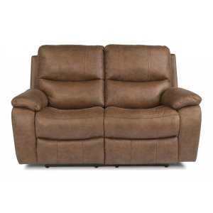 FLEXSTEELHendrix Fabric Power reclining Loveseats with Power Headrests