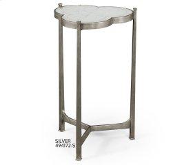 glomise & Silver Iron Trefoil Lamp Table