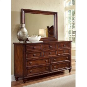 Compass Rose Dresser & Mirror