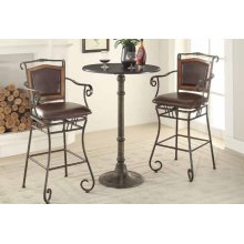 Rustic Dark Russet and Antique Bronze Counter-height Table