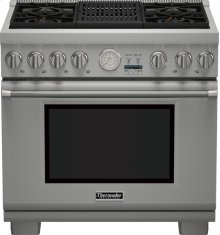 36-Inch Pro Grand Commercial Depth Dual Fuel Range PRD364NLGU