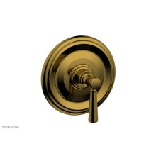 """HEX TRADITIONAL 1/2"""" Mini Thermostatic Shower Trim 4-098 - French Brass"""