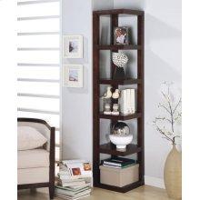 Transitional Cappuccino Bookcase