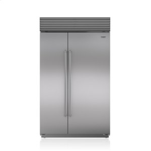 "Subzero48"" Classic Side-by-Side Refrigerator/Freezer with Internal Dispenser"