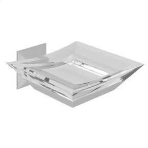 Polished Chrome Vincent Wall Mount Acrylic Soap Dish