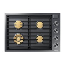 """Modernist 30"""" Gas Cooktop, Graphite Stainless Steel, Natural Gas"""