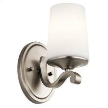 Versailles 1 Light Wall Sconce Antique Pewter