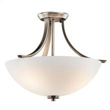Granby Collection Granby 3 Bulb Semi Flush Ceiling Light BPT