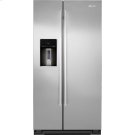 "Counter-Depth Refrigerator with External Dispenser, 72"", Euro-Style Stainless Knob Product Image"