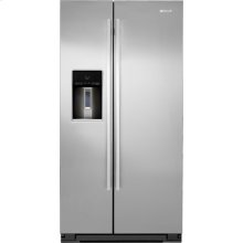 "Counter-Depth Refrigerator with External Dispenser, 72"", Euro-Style Stainless Knob"