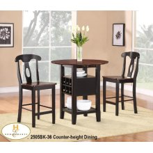 3 Piece Pack Counter-height Dinette