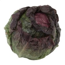 Savoy Open Cabbage Head Green Purple