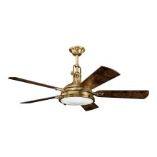 "Hatteras Bay 56"" Fan Burnished Antique Brass"