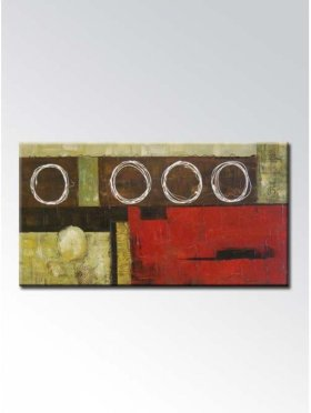 Reason Modern Abstract Oil Painting On Art Canvas With Wood Frame Ready To Hang