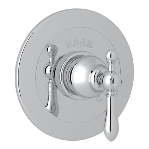 Polished Chrome Arcana Integrated Volume Control Pressure Balance Trim Without Diverter with Arcana Series Only Classic Metal Lever