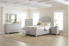 Chesapeake Dove 3 Piece Queen Bedroom Set: Bed, Dresser, Mirror