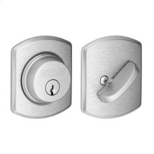Single Cylinder Deadbolt with Greenwich trim - Satin Chrome