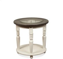 Juniper Round Side Table Chalk/Charcoal finish