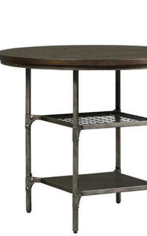 STANDARD 16891-16894 Montvale Round Pub Table With 4 Metal Counter Height Stools