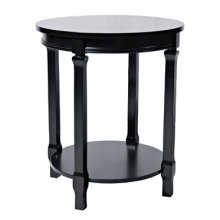 Black Round 4-Post Accent Table