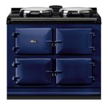 "Dual Control 39"" Electric/Natural Gas Dark Blue with Stainless Steel trim"