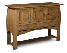 Aspen Open Sideboard with Inlay
