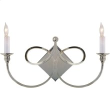 Visual Comfort SC2105PN Eric Cohler Double Twist 2 Light 19 inch Polished Nickel Decorative Wall Light