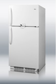 Large capacity refrigerator-freezer with dual front lock and frost-free operation