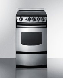 """20"""" Wide Slide-in Smooth-top Electric Range In Stainless Steel With Oven Window"""