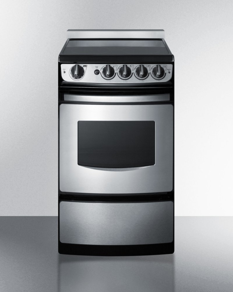 20 Wide Slide In Smooth Top Electric Range Stainless Steel With Oven