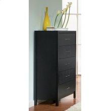 Grove Black Five-drawer Chest