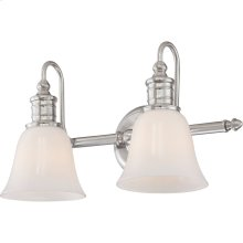 Broadgate Bath Light in Brushed Nickel