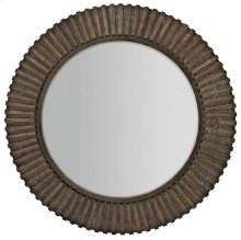 Clarendon Round Mirror in Arabica (377)
