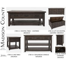 Madison County Harris 3 Drawer Console - Barnwood