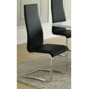 Contemporary Black and Chrome Dining Chair Product Image