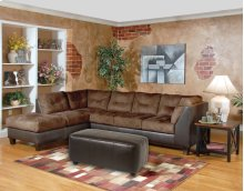 San Marino Chocolate / Padded Walnut Sectional