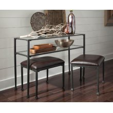 Transitional Black Console Table