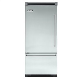 "Sea Glass 36"" Quiet Cool™ Bottom-Mount Refrigerator/Freezer - VIBB Tru-Flush™ (Left Hinge Door)"