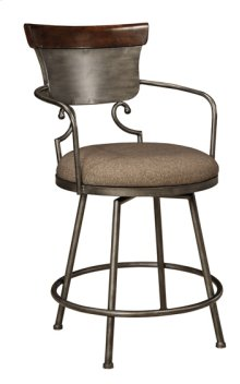 "Upholstered Barstool 24"" Moriann Two-tone"