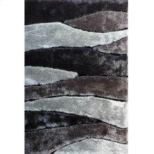 120 Black Gray Rug