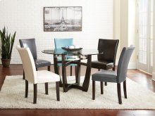 "Matinee Bonded Side Chair,Aqua 19""x26""x39"" [1/2"" memory foam]"