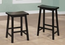 "BARSTOOL - 2PCS / 24""H / BLACK SADDLE SEAT"