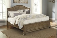 Trishley - Light Brown 3 Piece Bed Set (Queen)