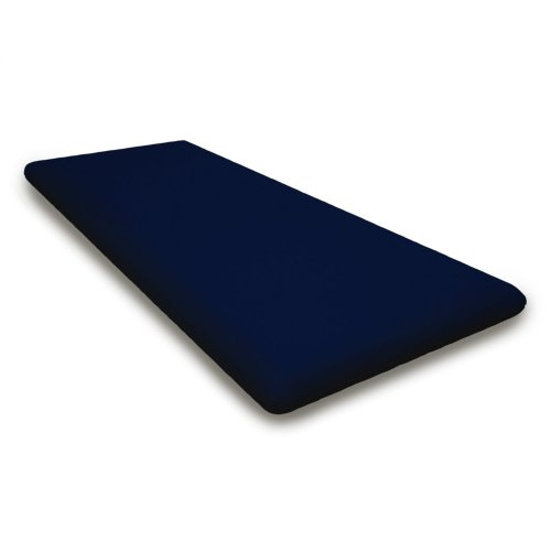 "Navy Seat Cushion - 17""D x 40.5""W x 2.5""H"