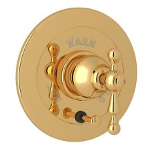Italian Brass Arcana Integrated Volume Control Pressure Balance Trim With Diverter with Arcana Series Only Ornate Metal Lever