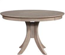 "Siena 48"" Pedestal Table w/ 30"" Base Taupe Gray"