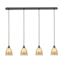 Pendant Options 4 Light Linear Pendant in Oil Rubbed Bronze