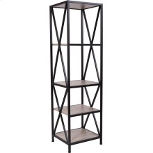 "Chelsea Collection 4 Shelf 61""H Cross Brace Bookcase in Sonoma Oak Wood Grain Finish"